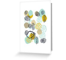 Jamm - abstract art painting brushstrokes modern minimal paint trendy colors hipster gender neutral  Greeting Card