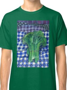 Broccoli and Gingham Classic T-Shirt