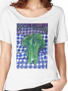 Broccoli and Gingham Women's Relaxed Fit T-Shirt