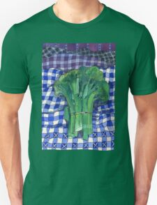 Broccoli and Gingham T-Shirt