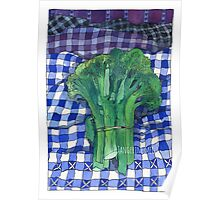 Broccoli and Gingham Poster
