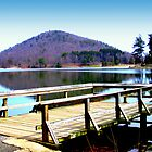 A shot of the dock at the lake by Chuck Chisler