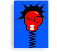 Comic Book Boxing Glove on Spring Pow Canvas Print