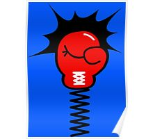 Comic Book Boxing Glove on Spring Pow Poster