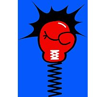 Comic Book Boxing Glove on Spring Pow Photographic Print