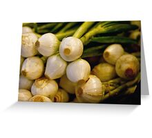 Onions Greeting Card