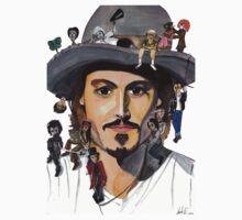 Johnny Depp no back Baby Tee