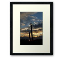 Sunset over empty field Framed Print