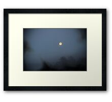 Moon Black Smoke Wire Framed Print