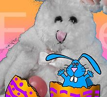 Easter Bunny Card by ArtBee