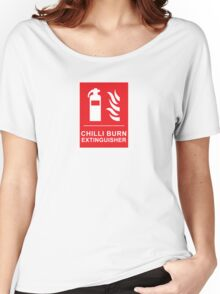 Chilli Burn Fire Extinguisher Funny Spicy Curry Women's Relaxed Fit T-Shirt