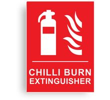 Chilli Burn Fire Extinguisher Funny Spicy Curry Canvas Print