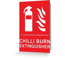 Chilli Burn Fire Extinguisher Funny Spicy Curry Greeting Card