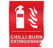 Chilli Burn Fire Extinguisher Funny Spicy Curry Poster