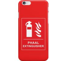 Funny Hot Spicy Curry Phaal Fire Extinguisher Joke iPhone Case/Skin