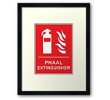 Funny Hot Spicy Curry Phaal Fire Extinguisher Joke Framed Print