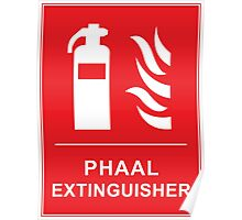 Funny Hot Spicy Curry Phaal Fire Extinguisher Joke Poster