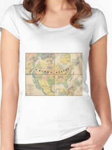 Historical Military Map of the United States (1890) Women's Fitted Scoop T-Shirt