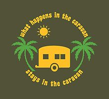 Funny Caravan Camping Trailer Park Joke Quote by CreativeTwins
