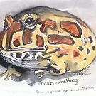 Ornate Horned Frog by WoolleyWorld