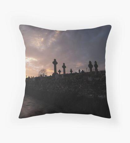 Baltyboys Cemetery Throw Pillow