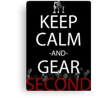one piece keep calm and gear second anime manga shirt Canvas Print