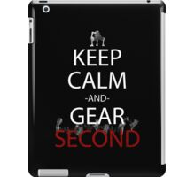 one piece keep calm and gear second anime manga shirt iPad Case/Skin