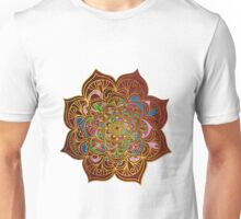 Mandala VII - Red & Gold Unisex T-Shirt