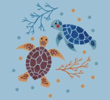 The Sea Turtle Pattern Baby Tee
