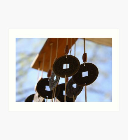 Coin Wind Chime Art Print