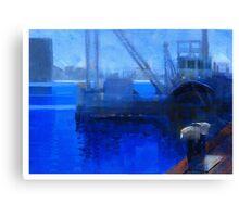 Boat crane Canvas Print