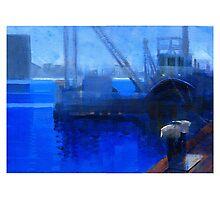 Boat crane Photographic Print