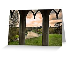 Lake view from Gothic Temple Greeting Card