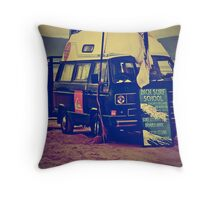 Inch Surf School Throw Pillow