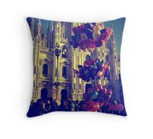 Balloons on the Piazza del Duomo Throw Pillow