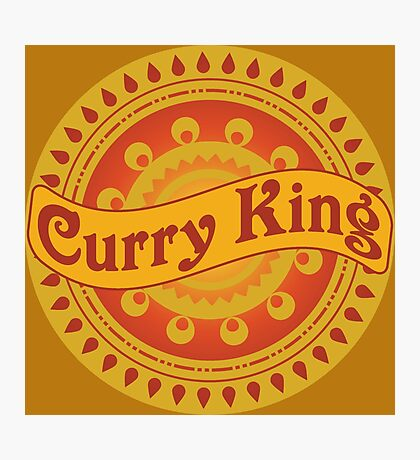 Curry King Indian Chef Eastern Asian Cuisine Restaurant Lover Photographic Print