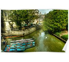 Punts, Patio and Parasols Poster