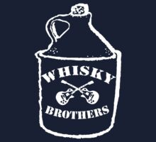Josh Allen and the Whisky Bros Logo (white) by muddyrecords