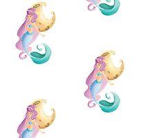 Indigo, the mermaid from the moon by mondoinundito