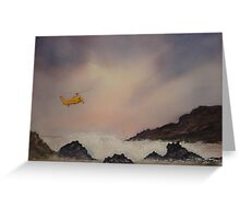 Sea Patrol Cornwall Coast, storm brewing Greeting Card