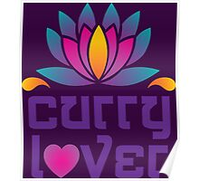Thai Asian Cuisine Chef Curry Lover Lotus Flower Poster