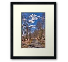 collinsville bike trail Framed Print