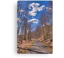 collinsville bike trail Canvas Print