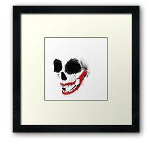 the smile of the skull Framed Print