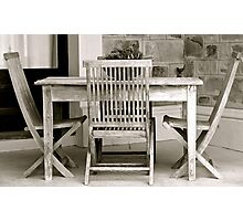 Table & Chair Photographic Print