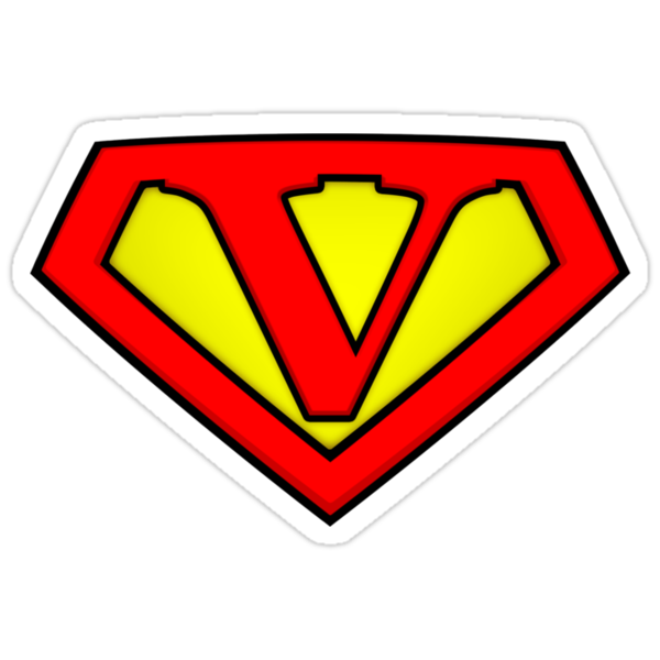 SUPER V Logo Shield by Adam Campen