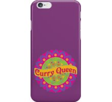 Ethnic Print Curry Queen Spicy Curries Food Addict iPhone Case/Skin