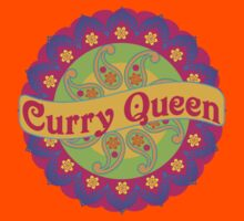 Ethnic Print Curry Queen Spicy Curries Food Addict Kids Tee