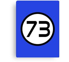 73 - The Best Number Canvas Print