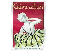 Leonetto Cappiello Affiche Crème de Luzy Poster